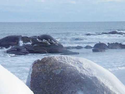 Winter Surf At Fortunes Rocks Beach Biddeford Maine Youtube
