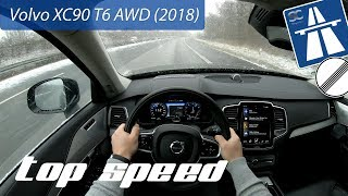 Volvo XC90 T6 AWD (2018) on German Autobahn - POV Top Speed Drive