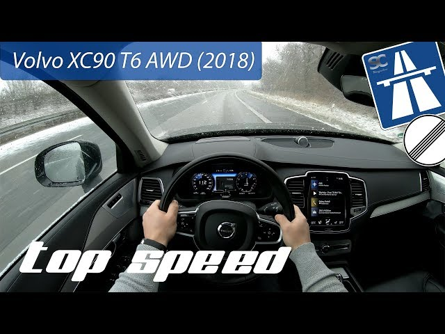 Volvo Xc90 T6 Awd 2018 On German Autobahn Pov Top Sd Drive You