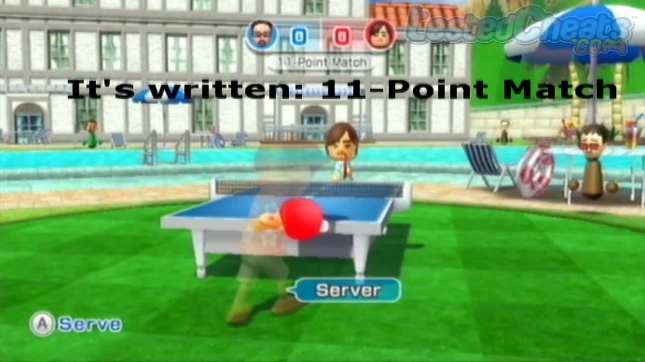 Wii sports resort table tennis cheat play a 11 point - Wii sports resort table tennis cheats ...