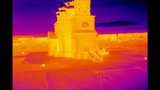 Съемка тепловизором с квадрокоптера