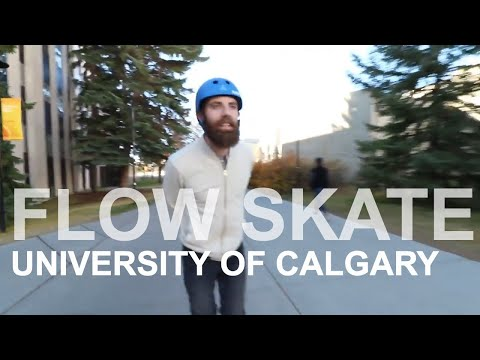 FLOW SKATE AT UNIVERSITY OF CALGARY - Inline skating (rollerblading) tricks