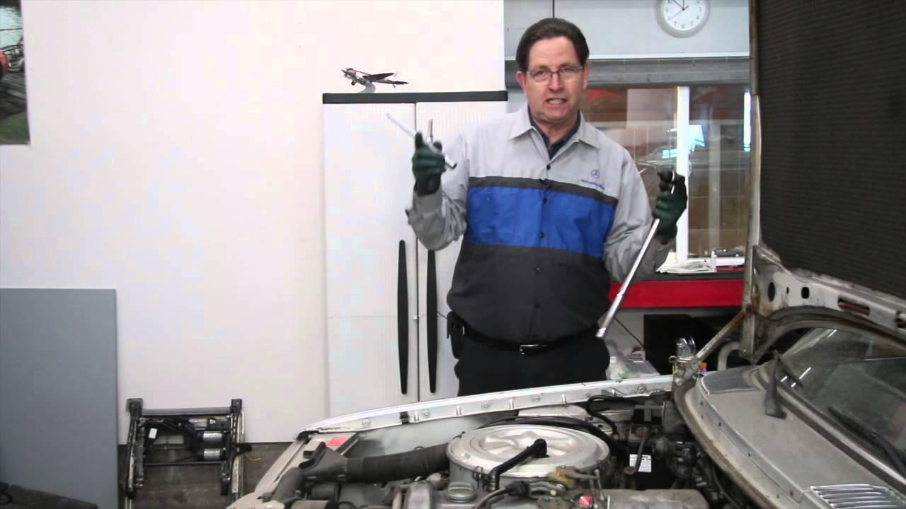 Diesel Engine Maintenance Tip 8 Replacing A Starter Motor Youtube 1985 Mercedes Glow Plug Wiring Diagram