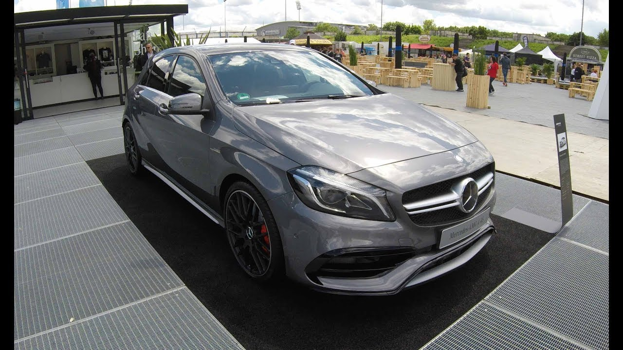 mercedes benz a class a45 amg 4 matic w176 new model 2017 silver colour walkaround youtube. Black Bedroom Furniture Sets. Home Design Ideas