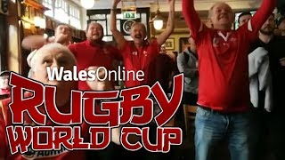 Welsh fans go crazy as Wales beat France to reach Rugby World Cup semi-finals in Japan