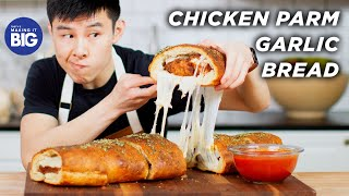 I Made A Giant Chicken Parm-Stuffed Garlic Bread • Tasty