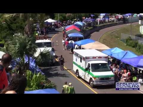 Responding Ambulance Drives Through Parade  May 24 2013