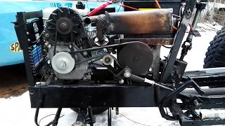 how to mount alternator on a 6 5 hp engine my homemade garden tractor part 9