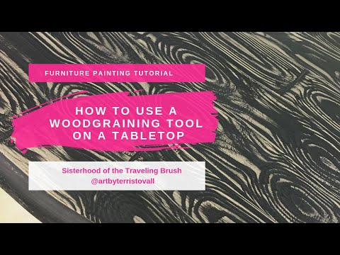 How to use a wood grain tool with chalky paint.
