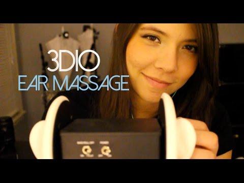ASMR 3dio Ear Massage & Brushing & Whispers