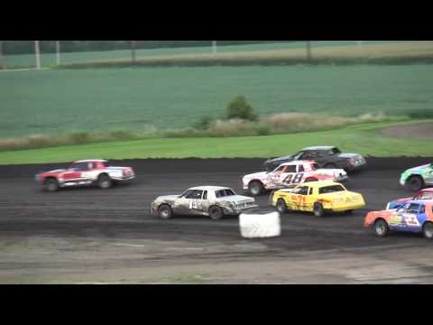 IMCA Hobby Stock feature Benton County Speedway 8/7/16