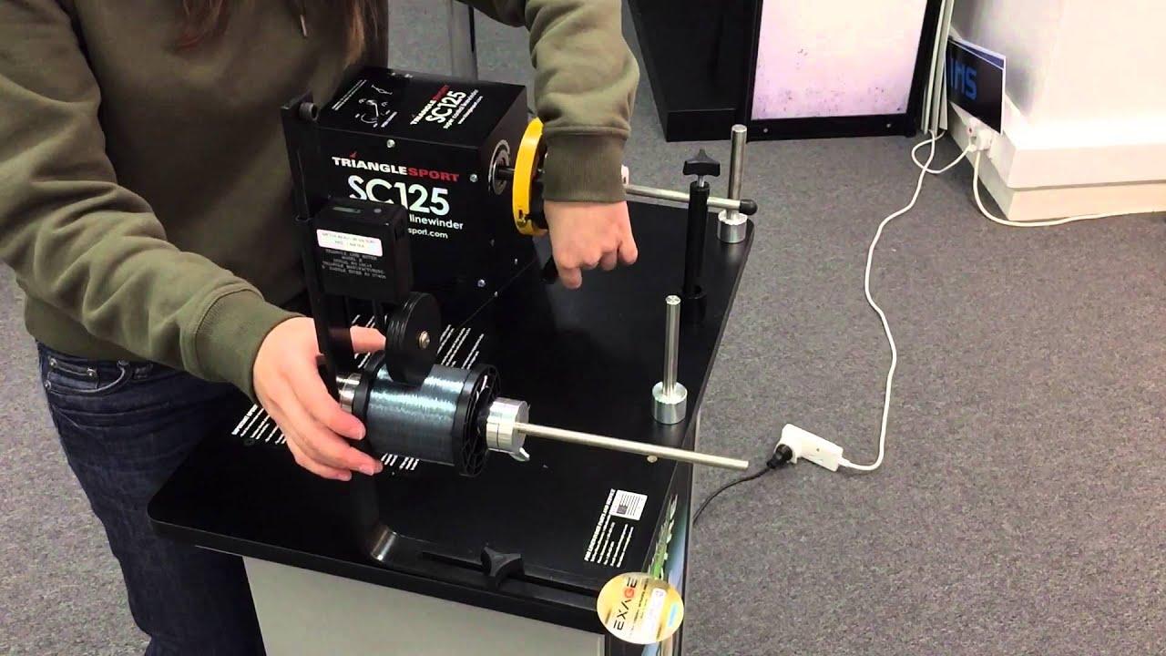 Shimano winding machine youtube for Fishing line winder machine