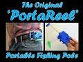 The Original 'PortaReel' Portable Fishing Pole, Compact EDC Full Function Rod Belt Clip