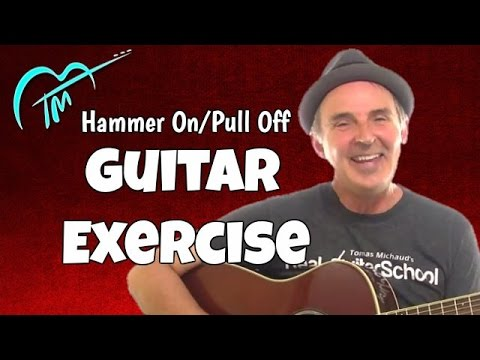 hammer on pull off acoustic guitar exercise builds strength and dexterity youtube. Black Bedroom Furniture Sets. Home Design Ideas