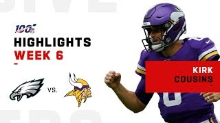 Kirk Cousins Runs the Show w/ 4 TDs & 333 Yds | NFL 2019 Highlights
