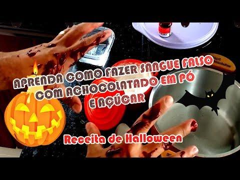 COMO FAZER SANGUE FALSO CASEIRO DE HALLOWEEN COM CHOCOLATE E AÇÚCAR | Como Fazer Fácil #Receitas 4