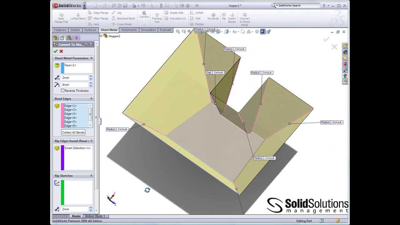 Complex Sheet Metal Parts Made Easy In Solidworks Youtube