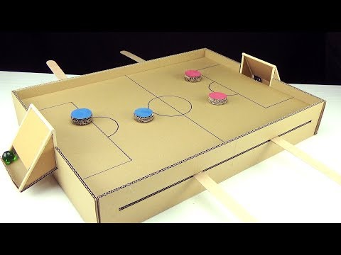 How To Make A Football/soccer Table Game With Magnets From Cardboard