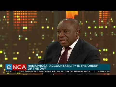 Ramaphosa discusses corruption