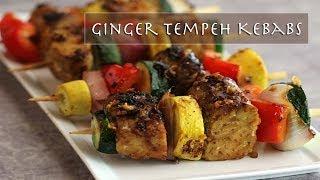 Happivore - Ginger Tempeh Kebabs