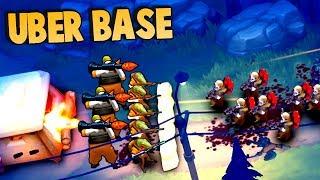 Guns Up UBER BASE Upgrades & Defense!  (BaronVonTactics First Video - Guns Up Gameplay part 1)