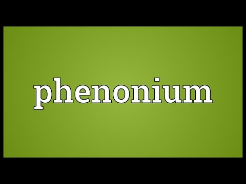Phenonium Meaning