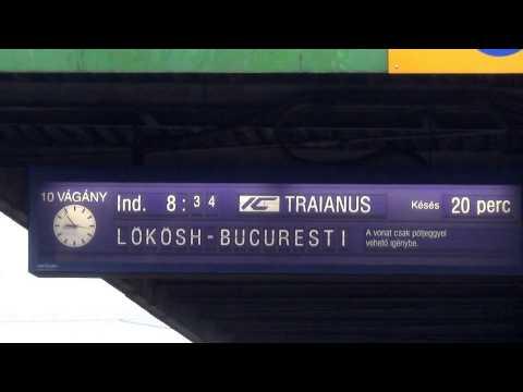 Szolnok: InterCity Traianus-Bononia sosește de la Budapesta Keleti; Traianus-Bononia InterCity érkez
