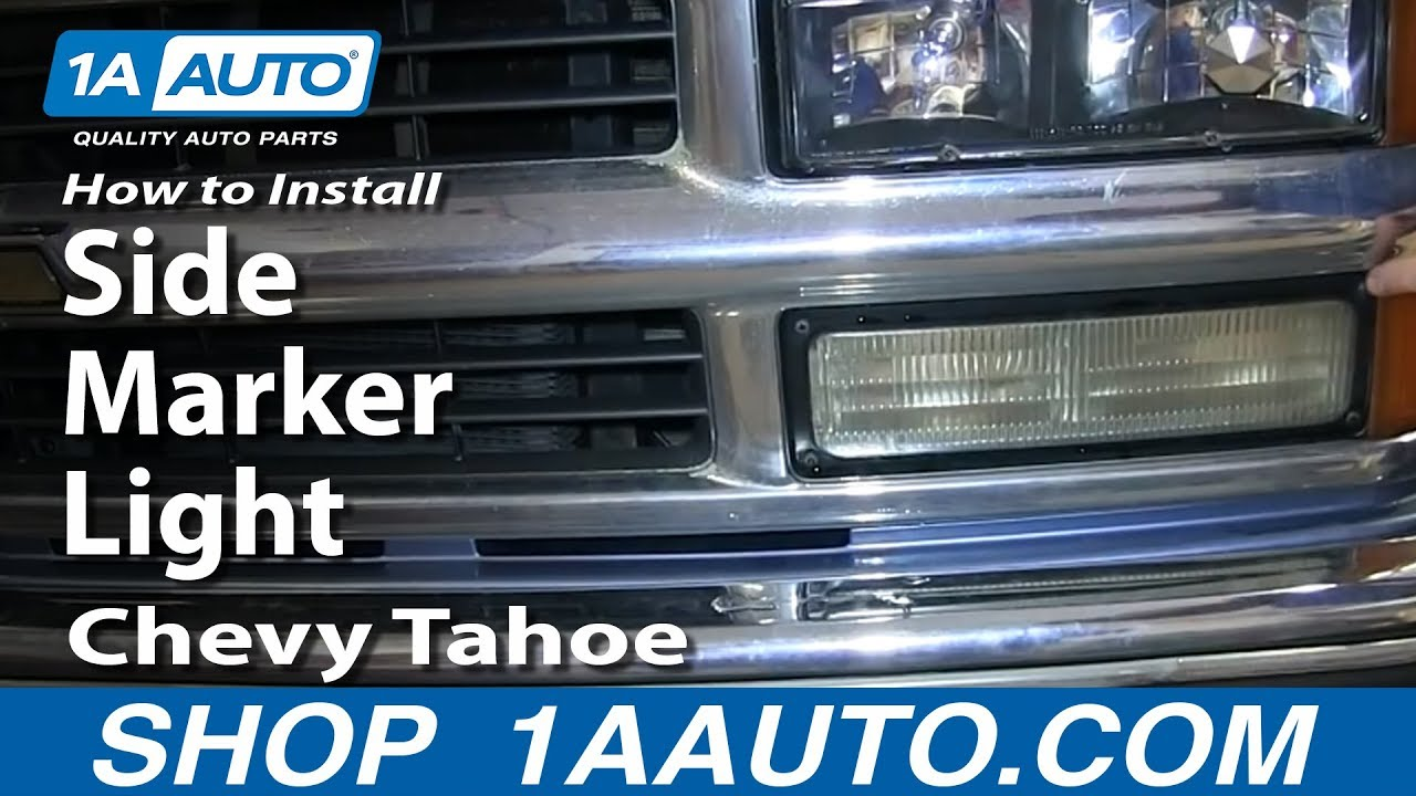 How To Install Replace Side Marker Light 1996 99 Chevy Tahoe 98 Gmc Truck Tail Wiring Suburban C1500 K1500 Pickup Youtube