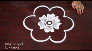 Amazing Friday special rangoli & kolam designs by Suneetha|| New Sravana Masam muggulu rangoli