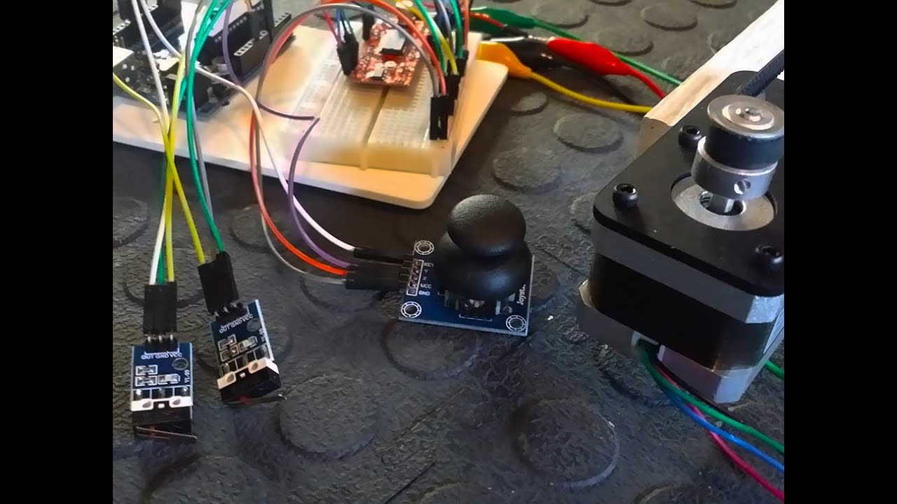 Control a stepper motor with an arduino joystick easy for Controlling a stepper motor