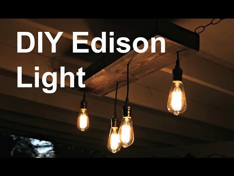 DIY Hanging Edison Light
