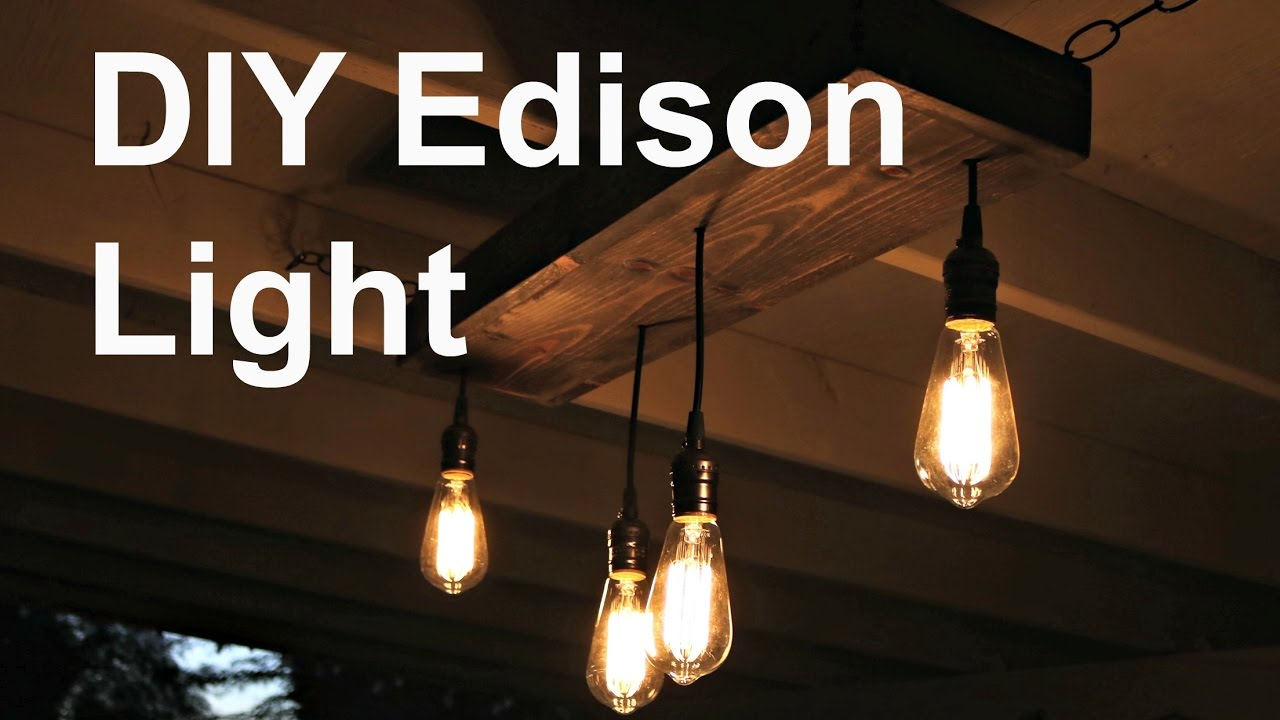 DIY Hanging Edison Light - YouTube