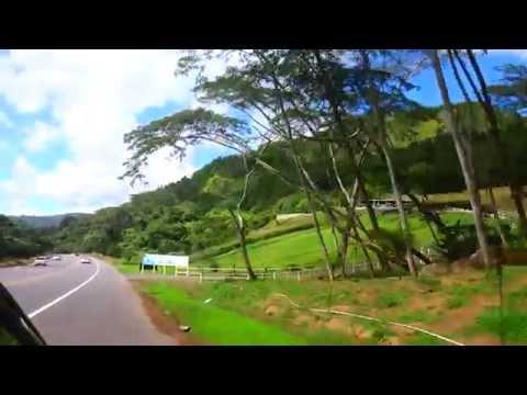 Driving through Adjuntas, Puerto Rico to Hacienda Maribó on PR10