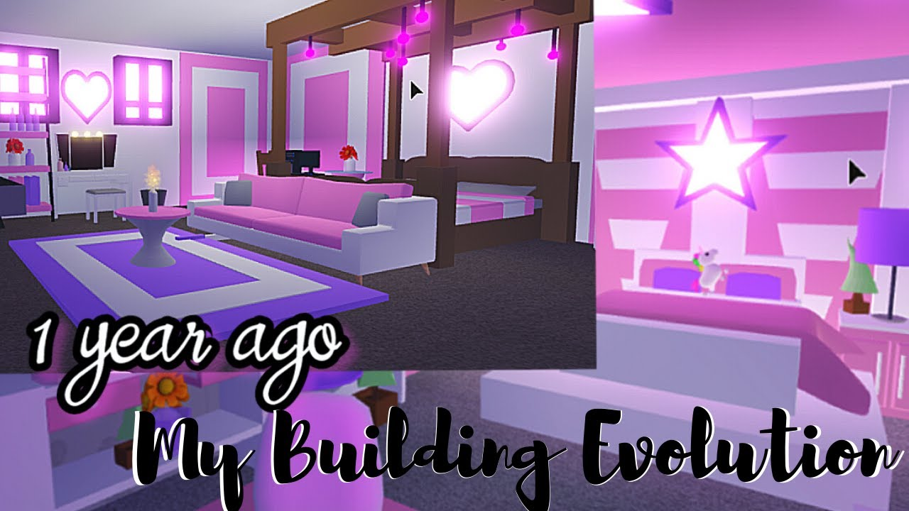 Every Bedroom I Ve Ever Built Building Evolution Roblox Adopt Me Youtube