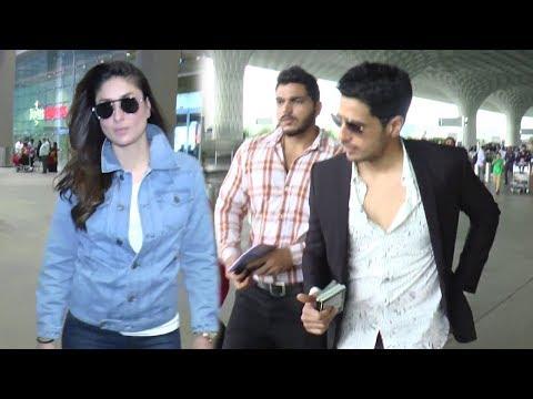 Bollywood Celebs Spotted At Airport 20th Aug, 2017 - Kareena Kapoor,Sidharth Malhotra,Esha Gupta