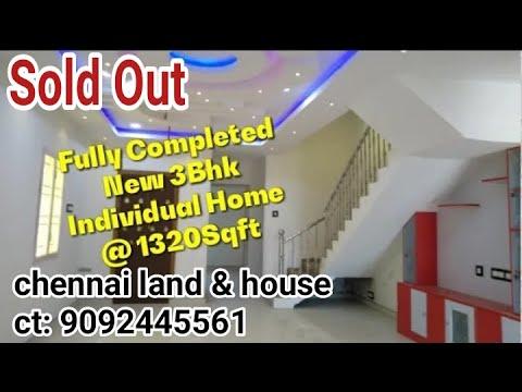 New 3Bhk Individual Home Chennai 1320 Sqft In Tamil/ Tamil Illam