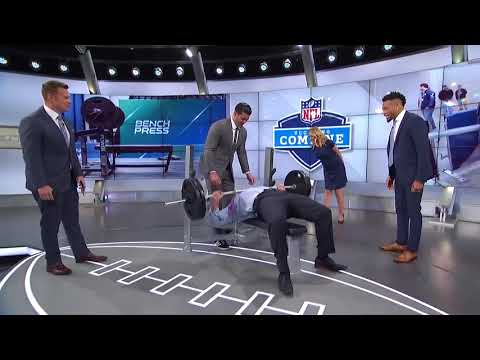NFL Combine 45 Reps At 225lbs Bench Press | New Goal 50 For 2018