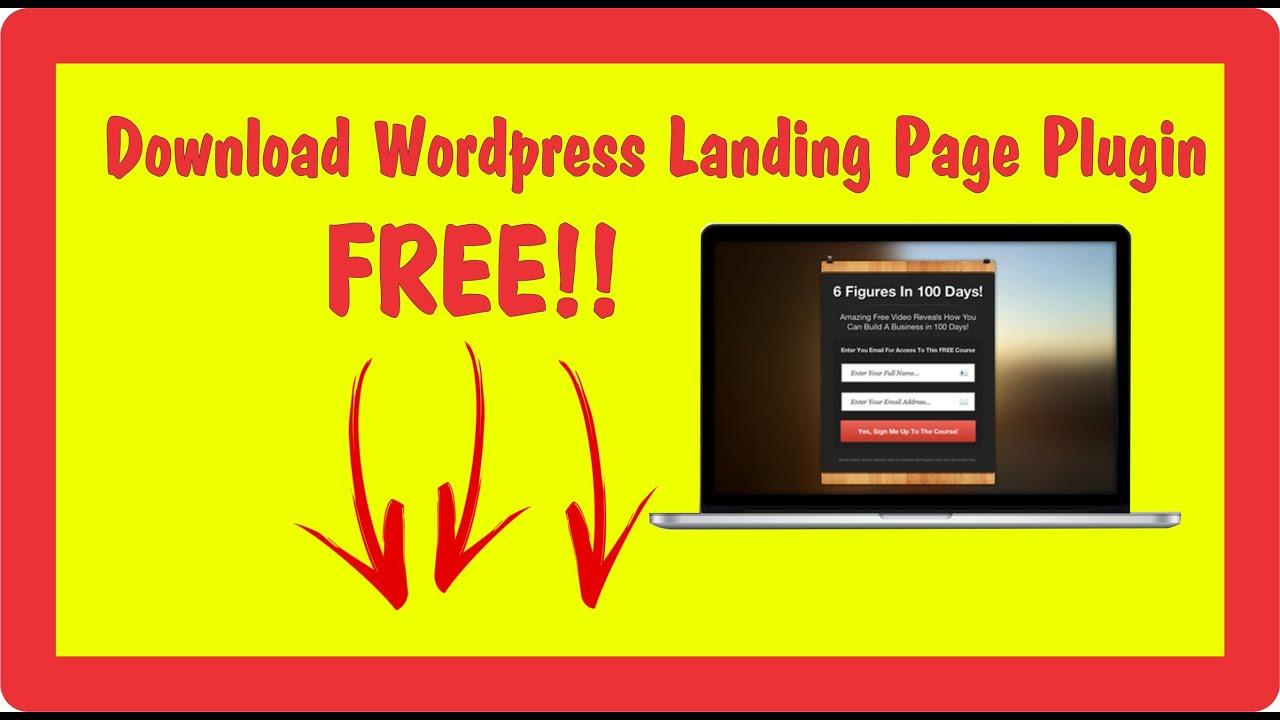 Download Wordpress Landing Page Plugin FREE!! | Landing Page ...