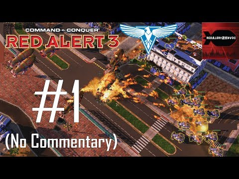 Command & Conquer: Red Alert 3 - Allied Campaign Playthrough Part 1 (No commentary, Mission 1)