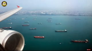 Video MAGNIFICENT Singapore Landing: Thai Air Asia A320, AMAZING Shoreline & Downtown views! [AirClips] download MP3, 3GP, MP4, WEBM, AVI, FLV Juni 2018