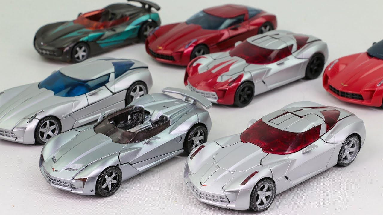 Transformers Movie Deluxe Sideswipe Swerve Darksteel Corvette Stingray 7 Vehicles Cars Robots Toys
