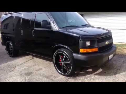 2014 Chevy Express Cargo Van on U2 55B 24's