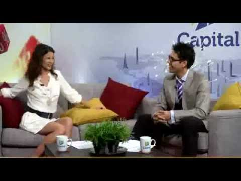 Natassia Malthe, Hollywood Actress, wearing LE ANN MAXIMA on Morning Bell Segment II of II