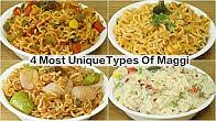 4 Types of Maggi Recipe | Masala Maggi | Makhni Masala Maggi | Chinese Maggi | Cheesy Italian Maggi