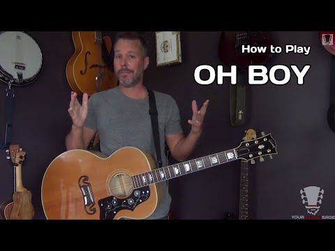 How to Play Oh Boy by Buddy Holly - Acoustic Guitar Lesson