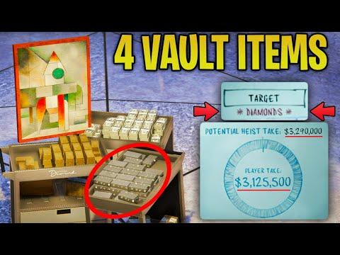 GTA Online Casino Heist - BEST & MOST VALUABLE Vault Items (Diamonds, Gold, Art & Cash)