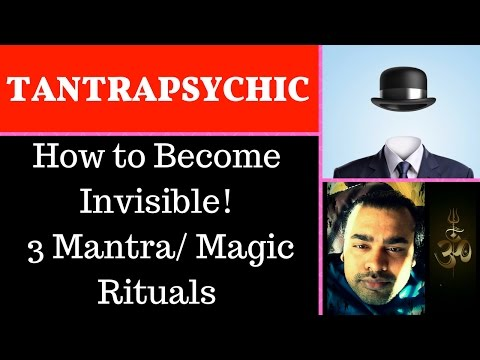 🕶How to Become Invisible❗ Three different Mantra/ Magic Rituals. Madna Yakshini Sadhana