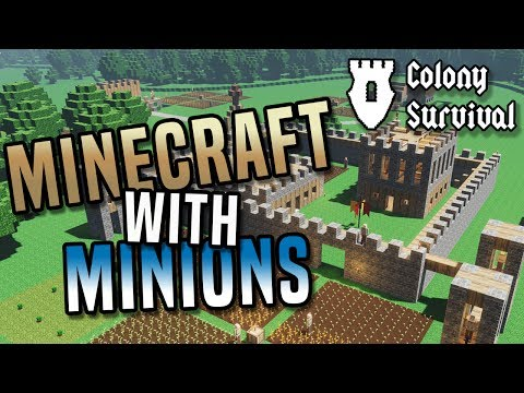 MINECRAFT WITH MINIONS? Build, survive and rule a huge kingdom in Colony Survival game!