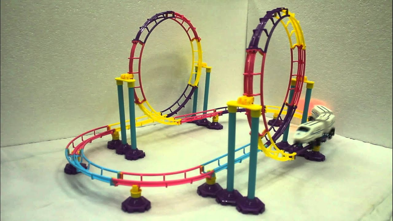 Very Big Size Roller Coaster Bullet Train Toy Runs Super