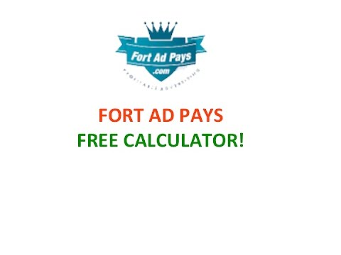 Fort Ad Pays FREE Calculator with cindy quinley